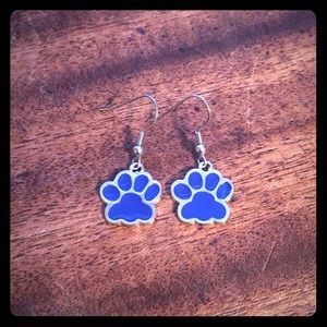 Jewelry - 🐾💙Blue Paw Print Earrings💙🐾